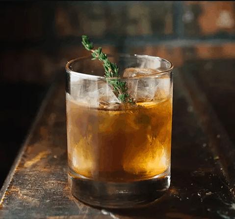 Basil Hayden's Bourbon Thyme Julep