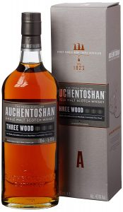 auchentoshan three wood single malt whiskey