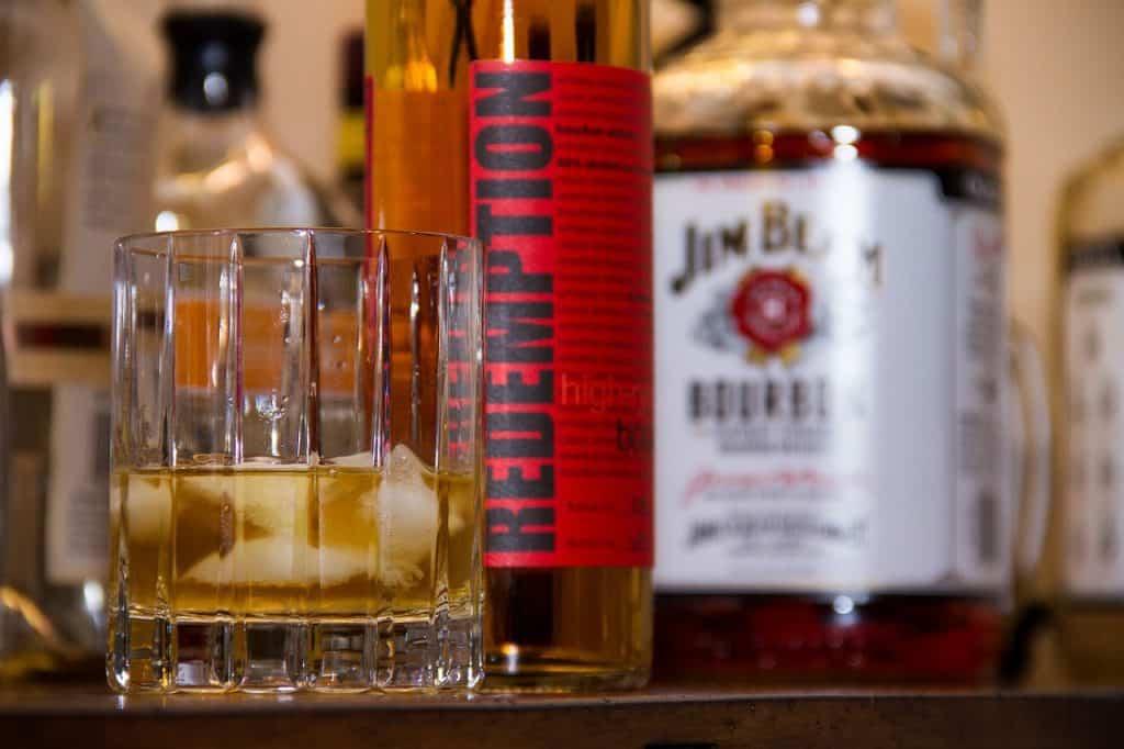 rye burbon bottle