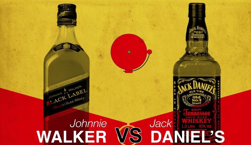 johnnie walker vs jack daniel's