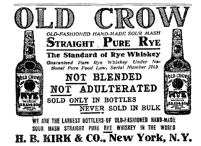 old crow bourbon history
