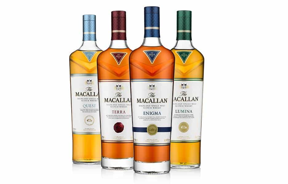 macallan collection of whisky