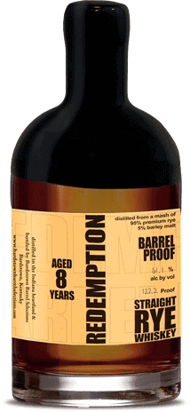 Image result for redemption barrel proof straight rye whiskey