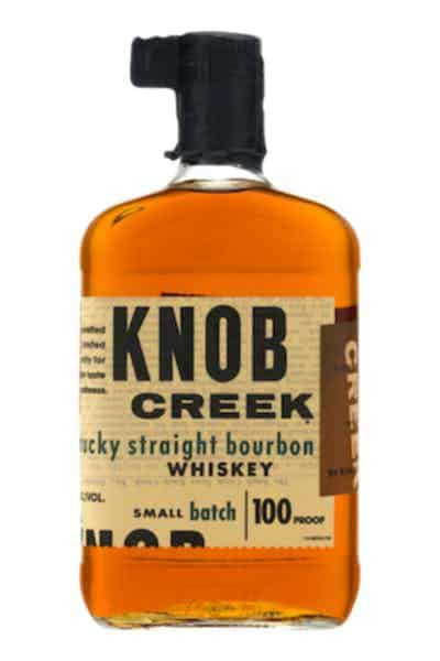Knob Creek Bourbon Whiskey with Flask | Drizly
